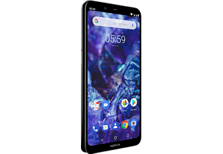 NOKIA 5.1 Plus, Smartphone, 32 GB, Gloss Black, Dual SIM