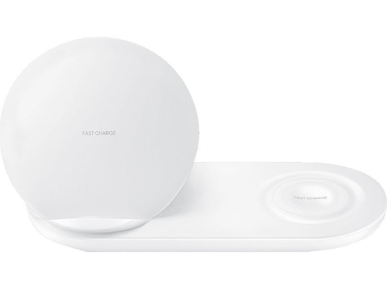 SAMSUNG Wireless Charger Duo, Induktive Ladestation, Weiß