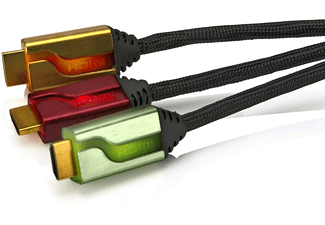 "Triple cable HDMI - PDP AFTERGLOW de 6"", ROJO/DORADO/VERDE + MINI"
