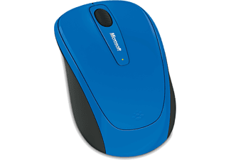 Ratón inalámbrico - Microsoft Wireless Mobile Mouse 3500, Azul