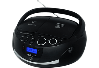 Radio CD - Nevir NVR-480UB, Radio, MP3, USB, Buetooth, Negro