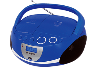 Radio CD - Nevir NVR-480UB, Radio, MP3, USB, Buetooth, Azul