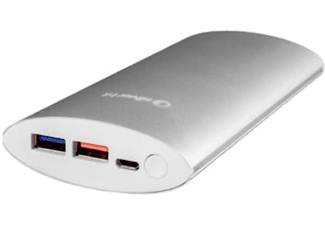 PowerBank - Smile 9735, 2 Puertos USB, 10.000 mAh, Gris