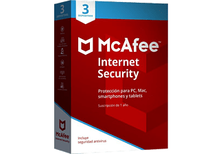 Antivirus - McAfee Internet Security 2018, 3 dispositivos, 1 año