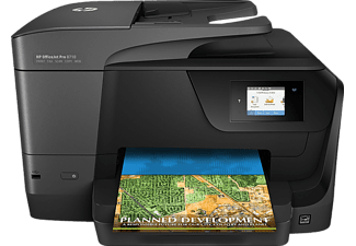 Impresora multifunción - HP Officejet PRO 8710, Doble cara automático, WiFi, Ethernet, USB