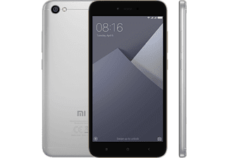 Móvil - Xiaomi Redmi Note 5A, 5.5'', HD, 2GB RAM, 13MP, Memoria 32GB, Dual Sim, Gris