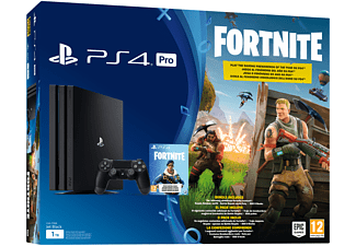 Consola - Sony - PS4 Pro Negra, 1TB, DualShock + Voucher Fortnite