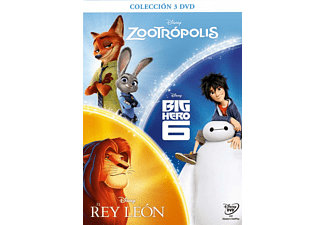 Box Zootrópolis + Big Hero 6 + Rey León - DVD