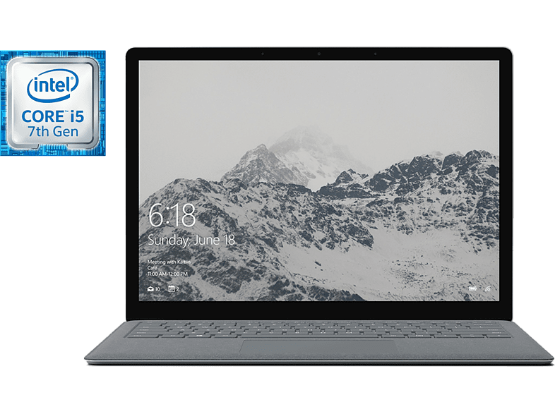"Portátil - Microsoft Surface Laptop, 13.5"", Intel® Core i5-7200U, 8 GB RAM, 128 GB SSD, Windows 10 S"