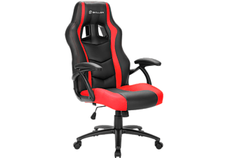 Silla gaming - Sharkoon Skiller SGS1, Negro y rojo