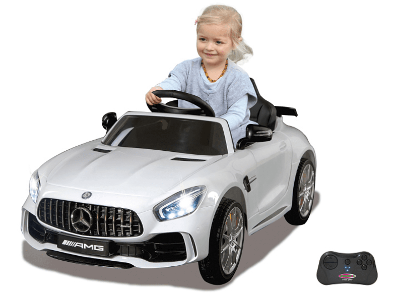 JAMARA KIDS Ride On Car – Mercedes-Benz AMG GT R 2,4 GHz Kinderelektroauto, Weiß