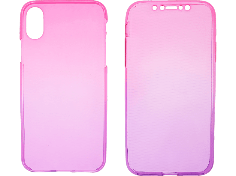 V-LV 093 Full Cover Apple iPhone XS/X Thermoplastisches Polyurethan Pink-violett | 04056212041849