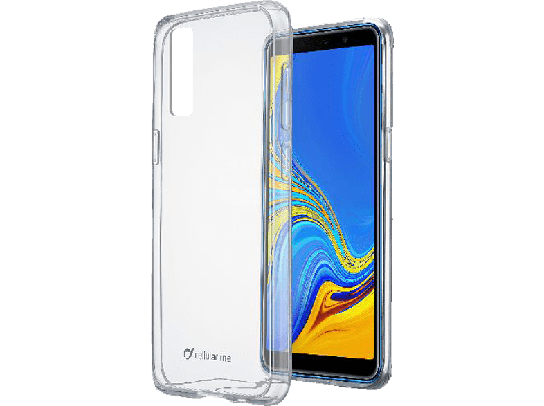 CELLULAR LINE  Clear Duo Backcover Samsung Galaxy A7 (2018) Thermoplastisches Polyurethan- Material Transparent | 08018080340178