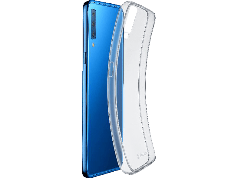 CELLULAR LINE  Fine Backcover Samsung Galaxy A7 (2018) Thermoplastisches Polyurethan- Material Transparent   08018080340161
