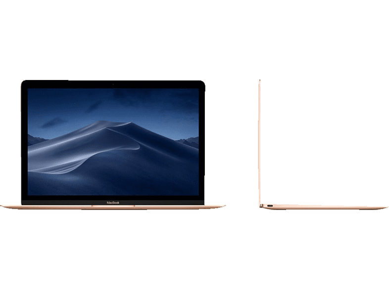 APPLE  MacBook MRQN2D/A mit deutscher Tastatur, Notebook, Core m3 Prozessor, 8 GB RAM, 256 GB SSD, Intel® HD-Grafik 615, Gold | 00190198733429