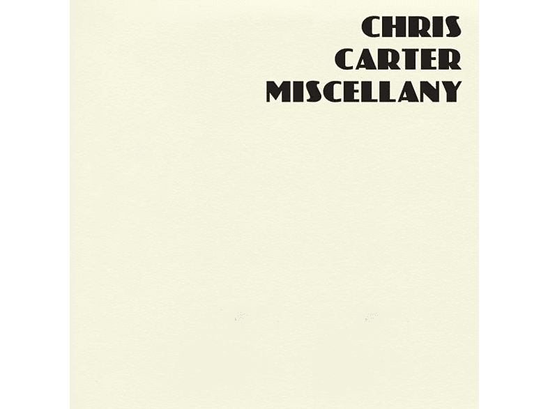 Chirs Carter - Miscellany [CD]
