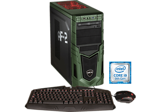 HYRICAN MILITARY GAMING 6128, Gaming PC mit Core™ i9 Prozessor, 16 GB RAM, 500 GB SSD, 2 TB HDD, GeForce® RTX 2080, 8 GB GDDR6 Grafikspeicher