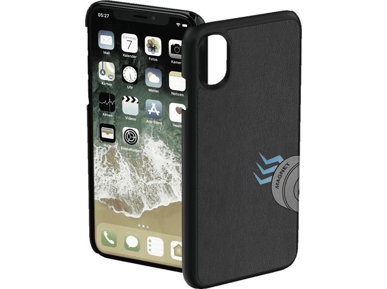 HAMA Magnet Backcover Apple iPhone XR Polyurethan (PU) Schwarz