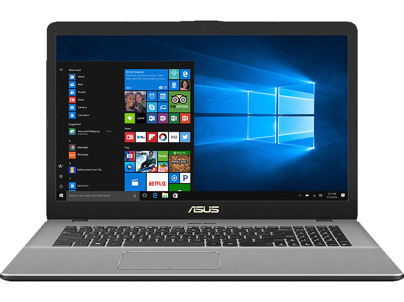 ASUS  N705UD-GC945T, Notebook mit 17.3 Zoll Display, Core™ i5 Prozessor, 8 GB RAM, 1 TB HDD, 256 GB SSD, Intel® UHD-Grafik 620, Grey | 04718017169684