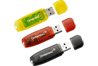 INTENSO 3er Pack  USB-Stick, Schwarz, Rot, Gold