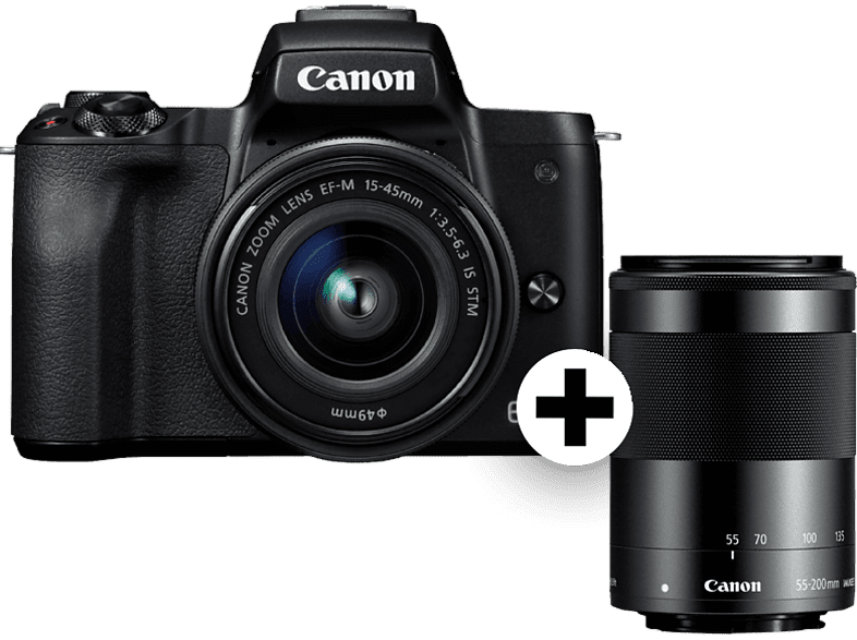 CANON EOS M50 BK M15-45S μαζί με M55-200 SEE