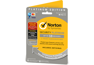 SYMANTEC UE Norton Security Platinum (10 enheter, 1 år) Attach