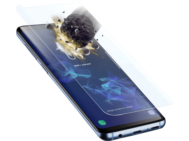 CELLULAR LINE  Tetra Force Shield Displayschutzglas (Samsung Galaxy S9) | 08018080330230