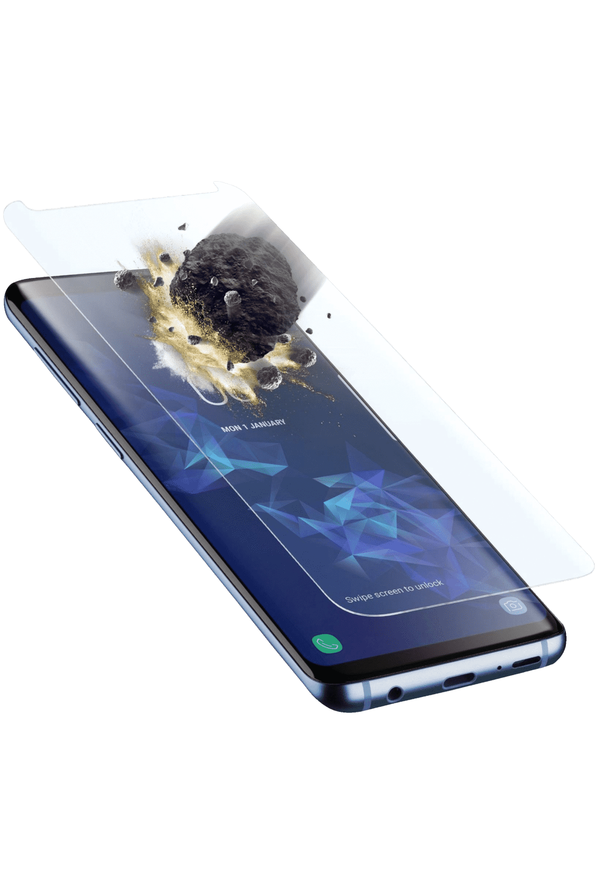 CELLULAR LINE  Tetra Force Shield Displayschutzglas für Samsung Galaxy S9 | 08018080330230