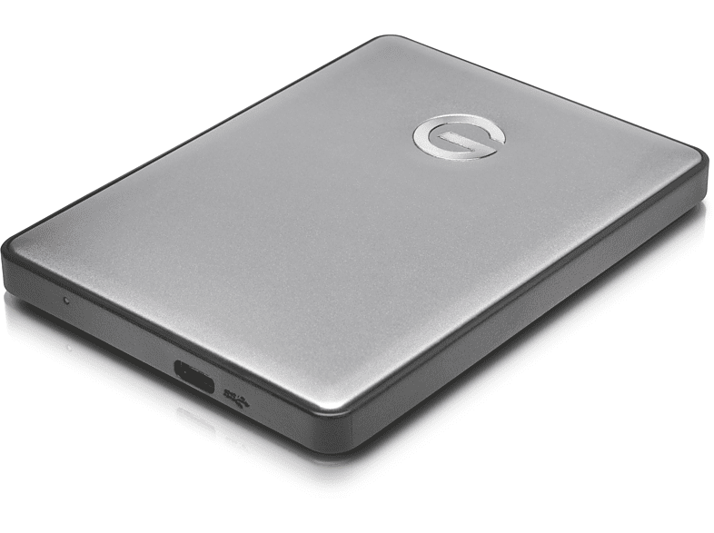 G-TECHNOLOGY G|DRIVE®  mobile USB-C™, 2 TB, Space Grey, 2 TB HDD, 2.5 Zoll, extern