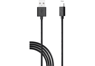 ISY ISY IC-5006 Switch Play & Charge Cable, 3M, Nintendo Switch USB Ladekabel, Schwarz