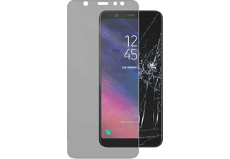 CELLULAR LINE SECOND GLASS, Schutzglas, Transparent, passend für Samsung Galaxy A6 Plus (2018)