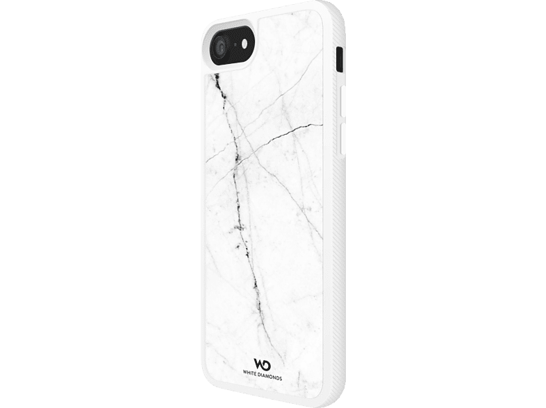 WHITE DIAMONDS Tough Marble Backcover Apple iPhone 7, iPhone 8 Kunststoff Weiß