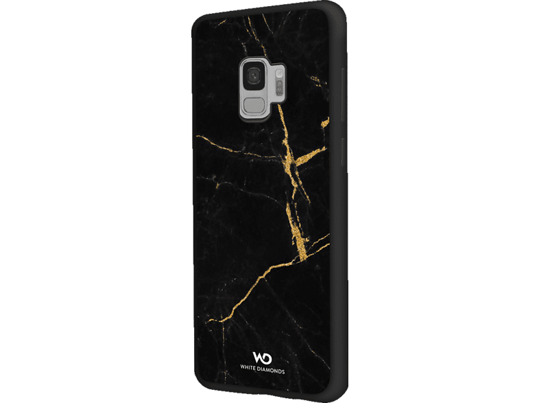 WHITE DIAMONDS Tough Marble , Backcover, Samsung, Galaxy S9, Kunststoff, Gold
