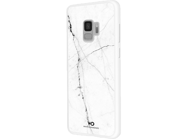 WHITE DIAMONDS Tough Marble Backcover Samsung Galaxy S9 Kunststoff Weiß