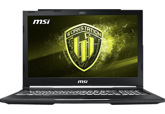 MSI WE73 8SJ-233, Notebook, Core™ i7 Prozessor, 16 GB RAM, 256 GB SSD, 1 TB HDD, Quadro® P2000, Schwarz
