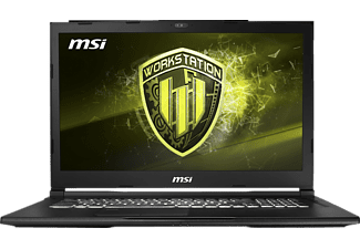 MSI WE63 8SJ-251, Notebook, Core™ i7 Prozessor, 16 GB RAM, 256 GB SSD, 1 TB HDD, Quadro® P1000, Schwarz