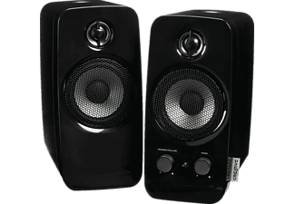 Altavoces - Creative Inspire T10, Sistema 2.0, Tweeter, BasXPort, Mini-Jack 3,5mm, Negro