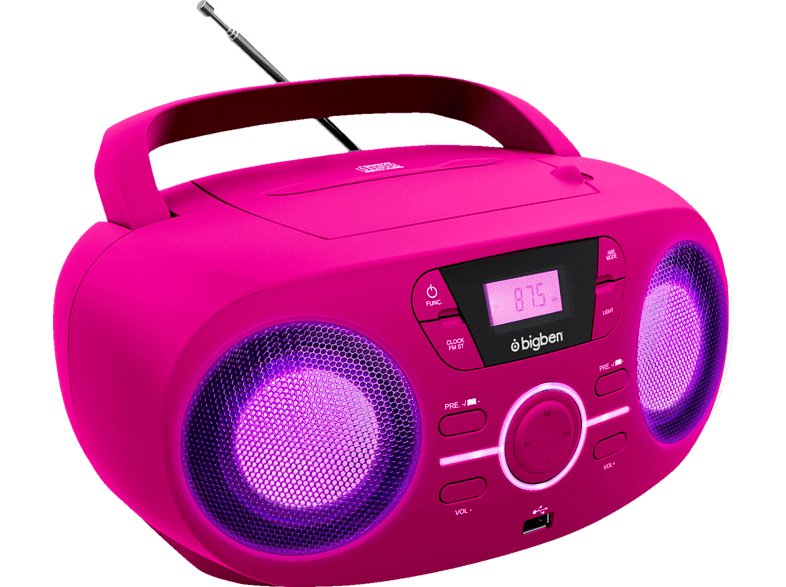 BIGBEN CD61 CD Player (Pink)
