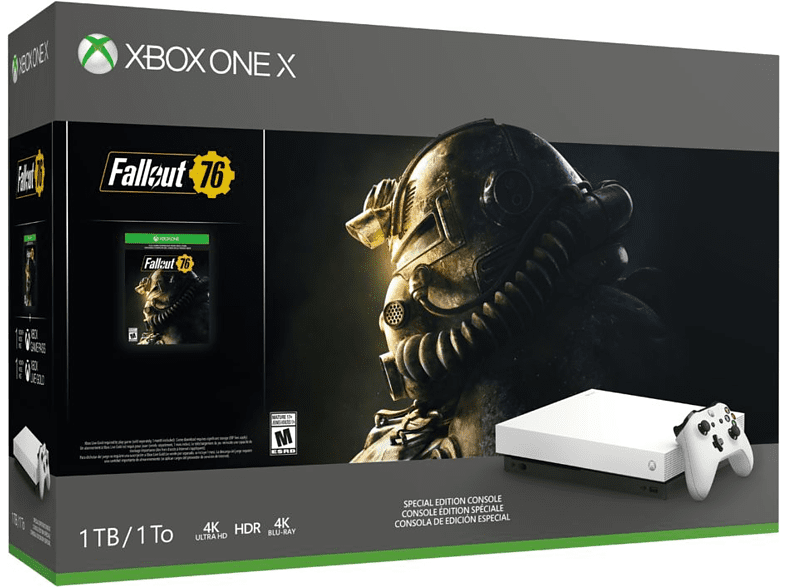 Consola - Xbox One X, 1 TB, Blanca + Fallout 76