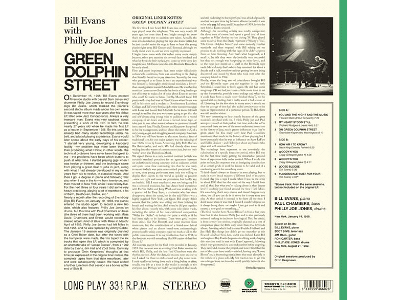 Bill Evans - Green Dolphin Street (Ltd.180g Farbiges Vinyl) [Vinyl]