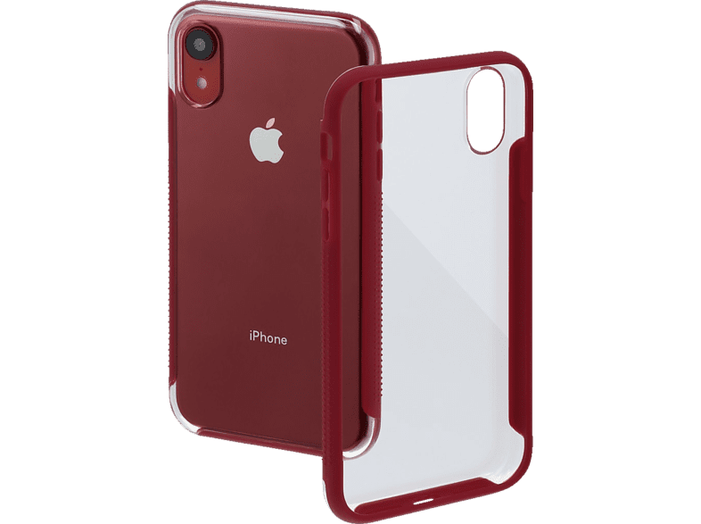 HAMA Frame , Backcover, Apple, iPhone XR, Polycarbonat (PC)/Thermoplastisches Polyurethan (TPU), Rot/Transparent
