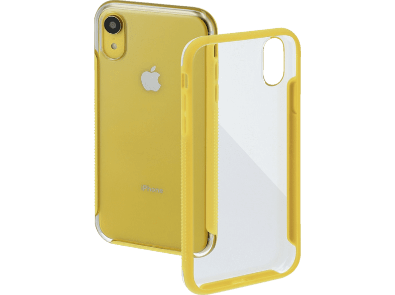 HAMA Frame , Backcover, Apple, iPhone XR, Polycarbonat (PC)/Thermoplastisches Polyurethan (TPU), Transparent/Gelb