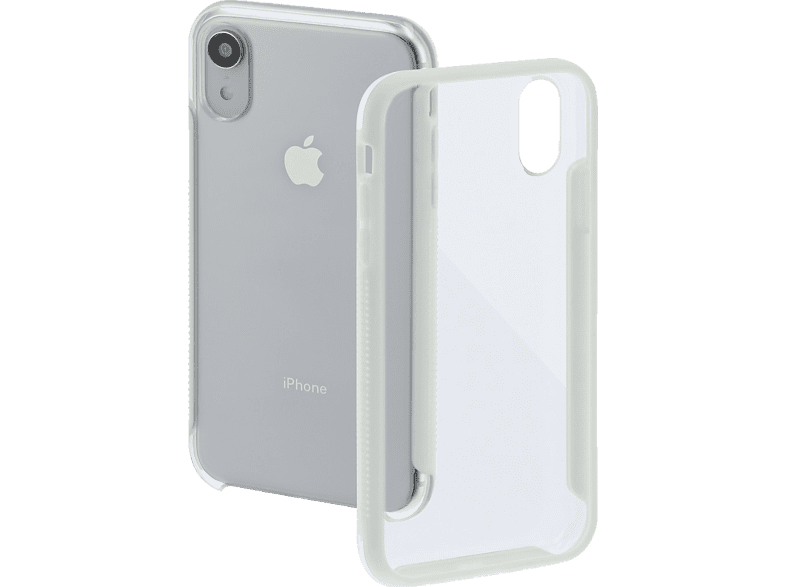 HAMA Frame Backcover Apple iPhone XR Polycarbonat (PC)/Thermoplastisches Polyurethan (TPU) Transparent/Weiß