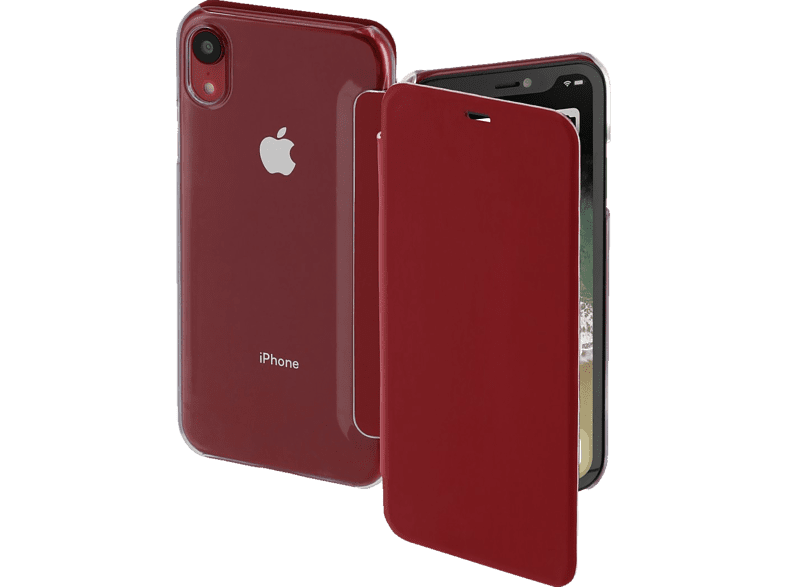 HAMA Clear , Bookcover, Apple, iPhone XR, Polycarbonat/Polyurethan, Rot/Transparent