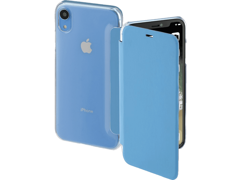HAMA Clear , Bookcover, Apple, iPhone XR, Polycarbonat/Polyurethan, Blau/Transparent