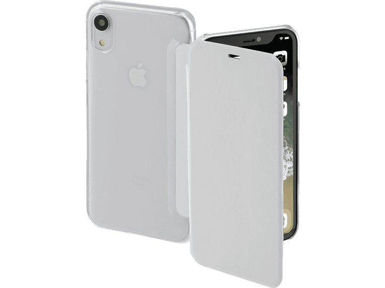 HAMA Clear , Bookcover, Apple, iPhone XR, Polycarbonat/Polyurethan, Weiß/Transparent