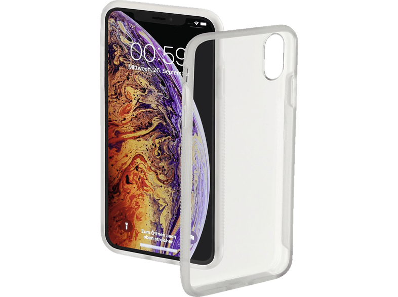 HAMA Frame Backcover Apple iPhone XS Max Polycarbonat (PC)/Thermoplastisches Polyurethan (TPU) Transparent/Semi-Transparent