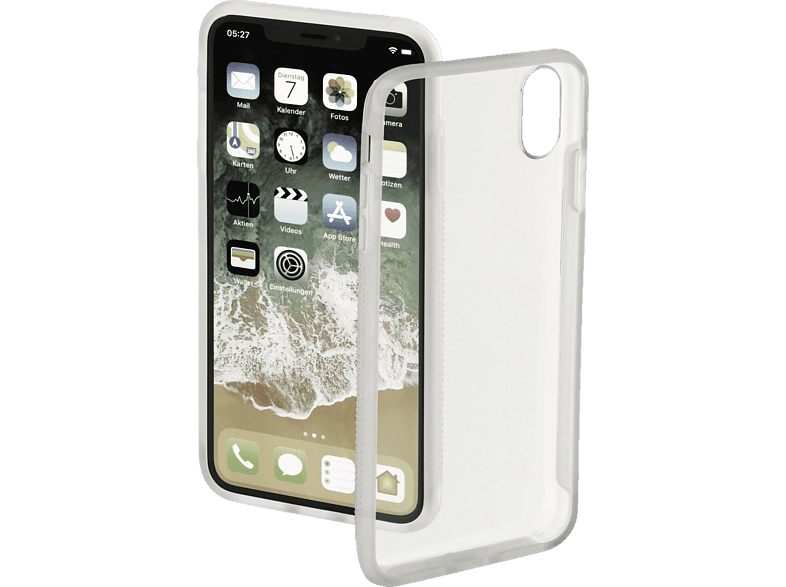 HAMA Frame Backcover Apple iPhone XR Polycarbonat (PC)/Thermoplastisches Polyurethan (TPU) Transparent/Semi-Transparent