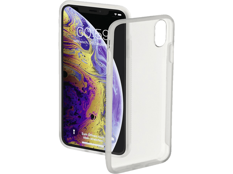 HAMA Frame Backcover Apple iPhone X/XS Polycarbonat (PC)/Thermoplastisches Polyurethan (TPU) Transparent/Semi-Transparent