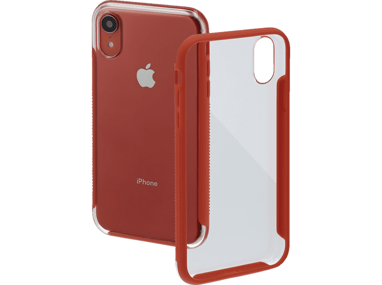 HAMA Frame Backcover Apple iPhone XR Polycarbonat (PC)/Thermoplastisches Polyurethan (TPU) Transparent/Koralle